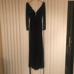 Evening Gown - Dark Navy Blue